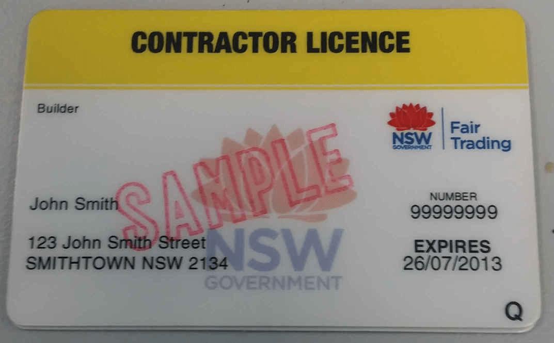 contractor license NSW Fair trade